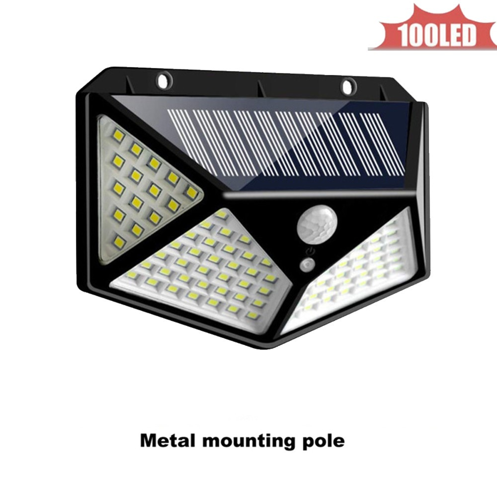Outdoor Solar Lights 100 LED Bright Motion Sensor Wall Light with 3 Modes Wireless Waterproof IP65 Night Lights for Outside Wall