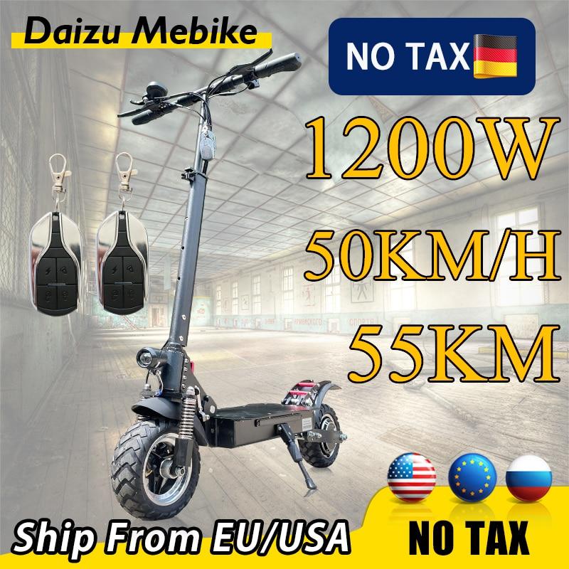 Patinete eléctrico plegable para adultos, Scooter de 1200W, 50 km/h, versión Global,...