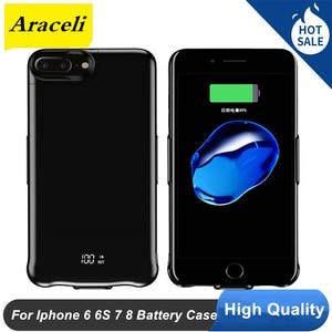 5000 Mah For Iphone 6 6s 7 8 Battery Case Digital Display Power Bank Smart For Iphone 6 6s 7 8 Battery Charger Case