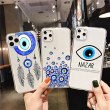 Mauvais œil Illustrations étui de téléphone en silicone transparent pour Samsung Galaxy A50 A30 A7 A8 Plus A6 A5 A3 J5 J7 coque souple