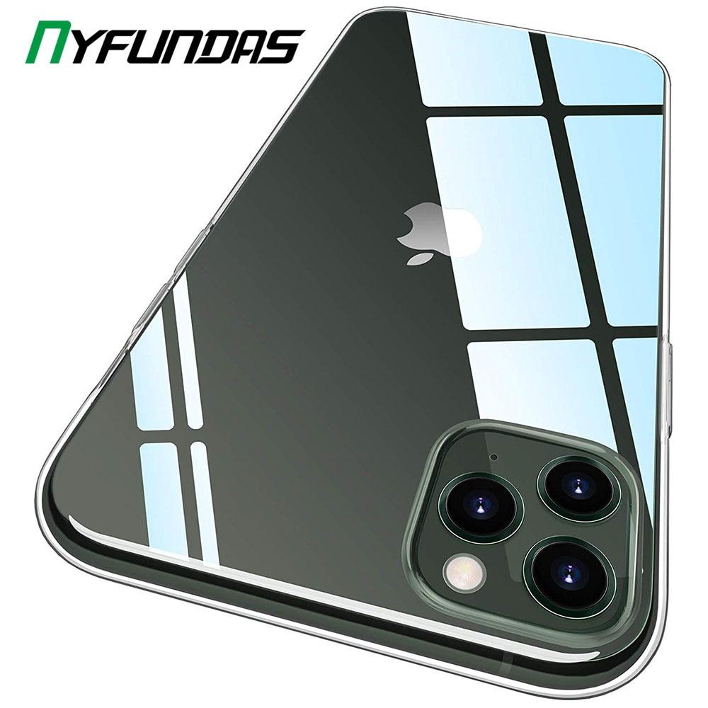 Funda transparente para Apple iPhone 11 Pro Max X XR XS 7 8 Plus 6 6S SE iPhone11, funda protectora de silicona para teléfono, accesorios