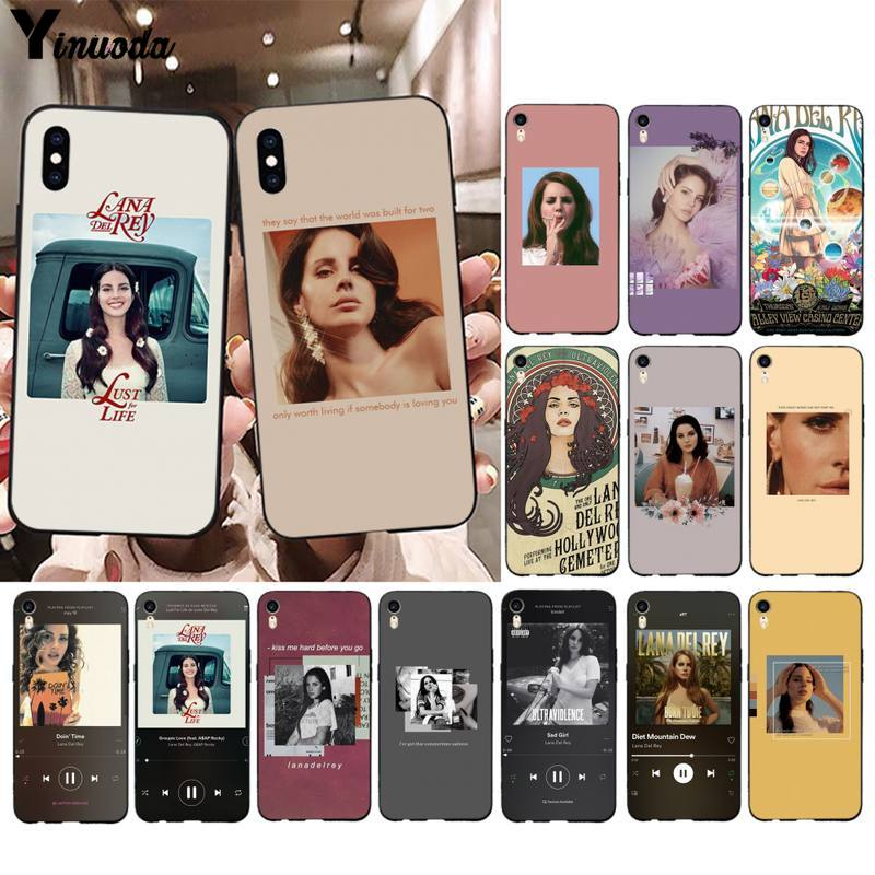 Yinuoda cantor sexy modelo lana del rey caso de telefone para iphone 11 pro xs max 8 7 6s plus x 5 5S se 2020 xr