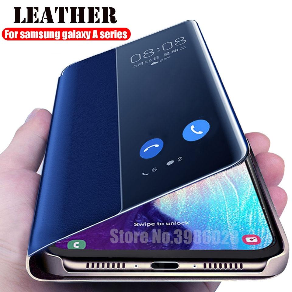Откидной кожаный чехол для samsung Galaxy A30 A20 A10 A40 A50 A70 A20e Умная книга вида покрытия на samsung 10 30 40 50 70 20 coque