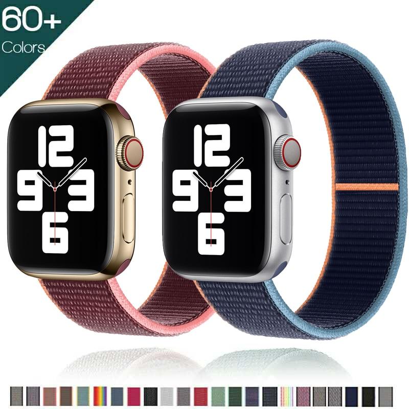 Strap For Apple Watch band 44mm 40mm 42mm 38mm Smartwatch Watchband correa Sport Nylon Loop belt Bra