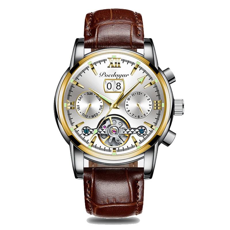 POEDAGAR Fashion Mens Watch Top Brand Luxury WristWatch Quartz Clock Blue Men Waterproof Sport Chronograph Watches