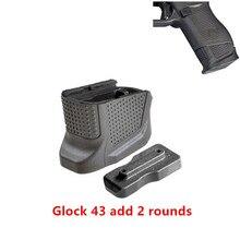 Magorui Glock 43 لوحة قاعدة مجلة معززة ل 9 مللي متر 6RD مسدسات + 2 Round