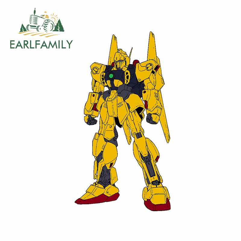 EARLFAMILY 13cm x 7,2 cm para dibujos animados Anime Gundam Car Decal oclusion Scratch impermeable vinilo calcomanía del coche de personalidad Decoración