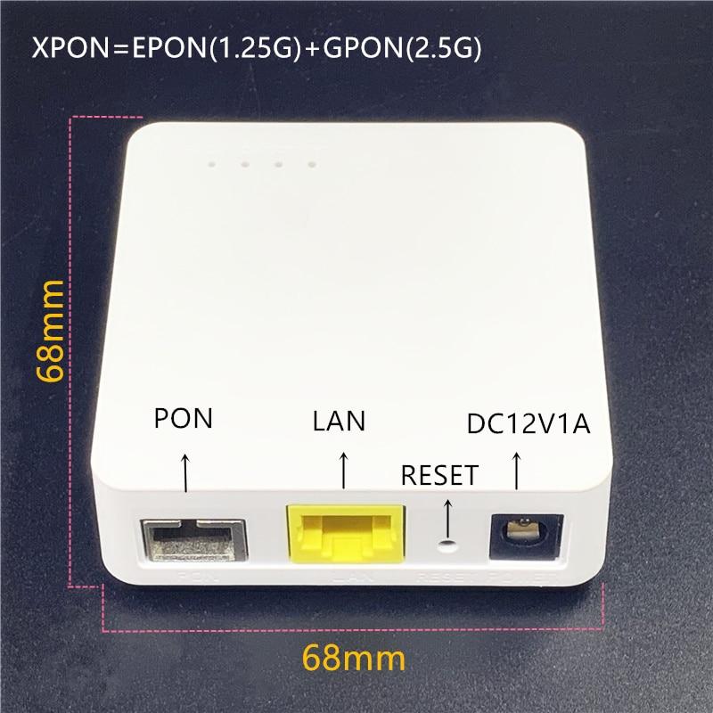 Minni ONU английский 68 мм XPON EPON1.25G/GPON2.5G G/EPON ONU модем FTTH G/EPON совместимый маршрутизатор английская версия ONU MINI68 * 68 мм