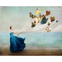 diy painting by numbers woman butterfly kite kit oil picture by numbers wall art acrylic paintings on canvas home decoration
