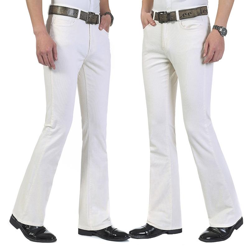 Men's casual pants classic design men's flared pants corduroy black Korean flared pants color white black khaki