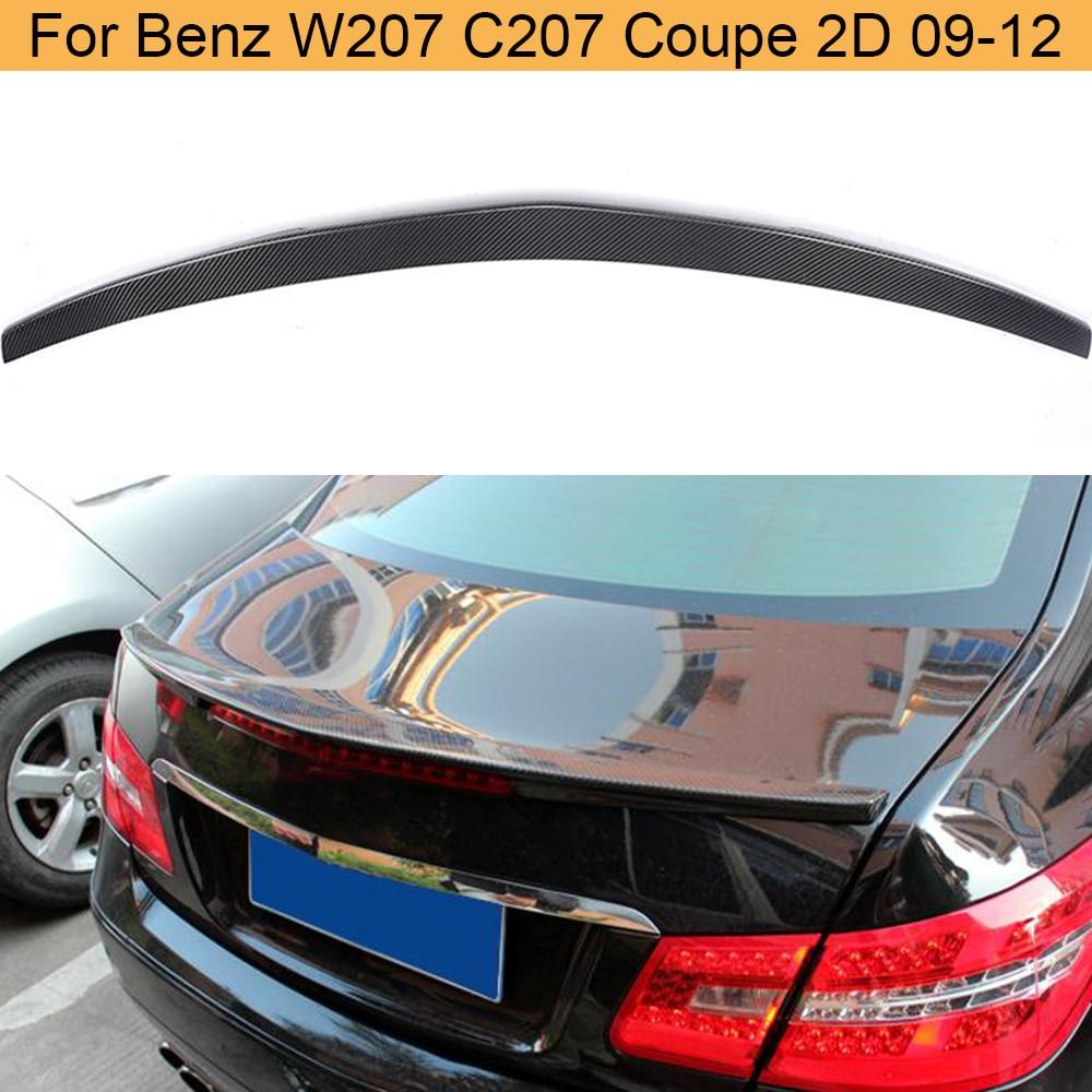 Alerón trasero de coche para Mercedes Benz W207 C207 Coupe 2 puertas 09-12 E250 E300 E500 E550, alerón trasero de maletero, alerón trasero de carbono