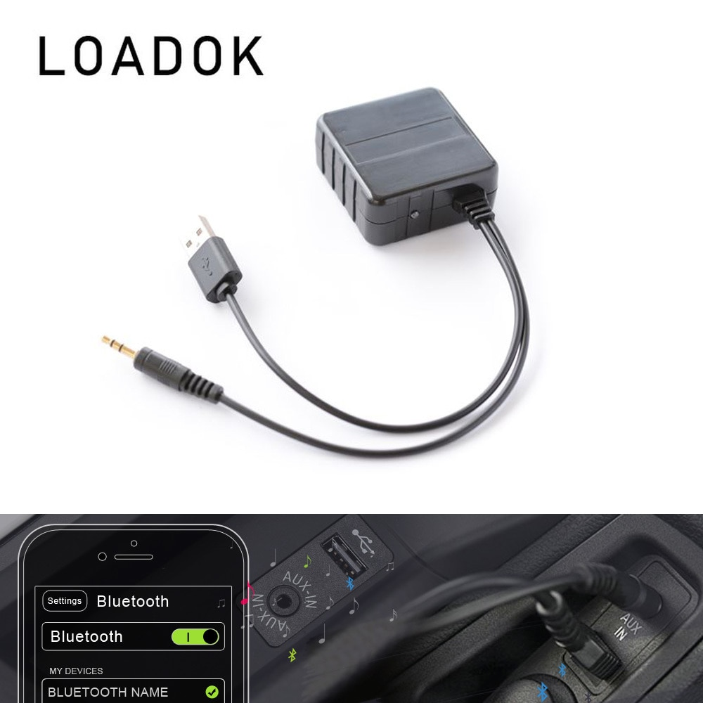 Adaptador Universal Usb para coche, Adaptador de Cable receptor A2DP inalámbrico, Bluetooth...