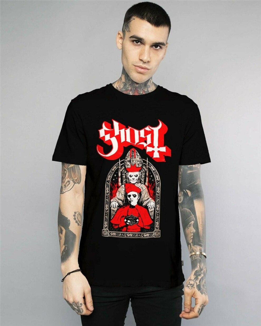 Camiseta Ghost Cardenal Copia & Papa emérito Unisex tamaño S-2Xl de impresión de ropa camiseta