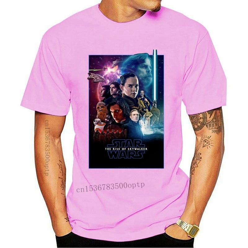 New 2021 The Rise Of Skywalker Movie 2021 Poster Black T-Shirt S M L Xl 2Xl Stylish Custom Tee Shirt