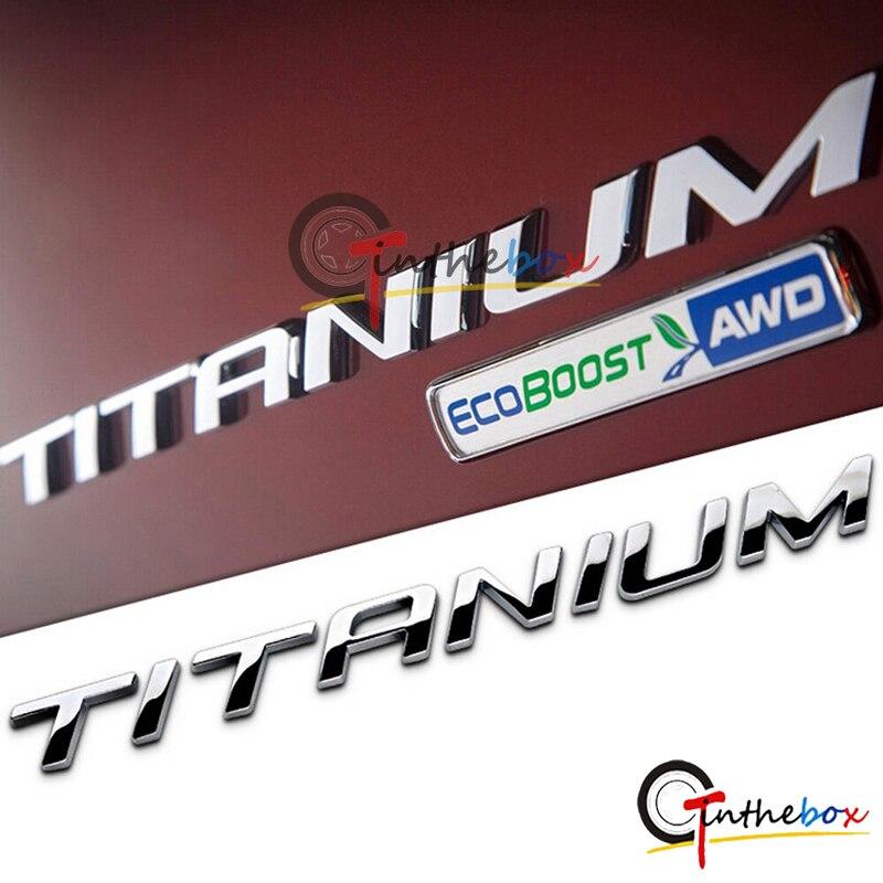 GTinthebox 1pc parte trasera del coche pegatina de titanio emblema pegatina decoración para Ford Kuga Escape