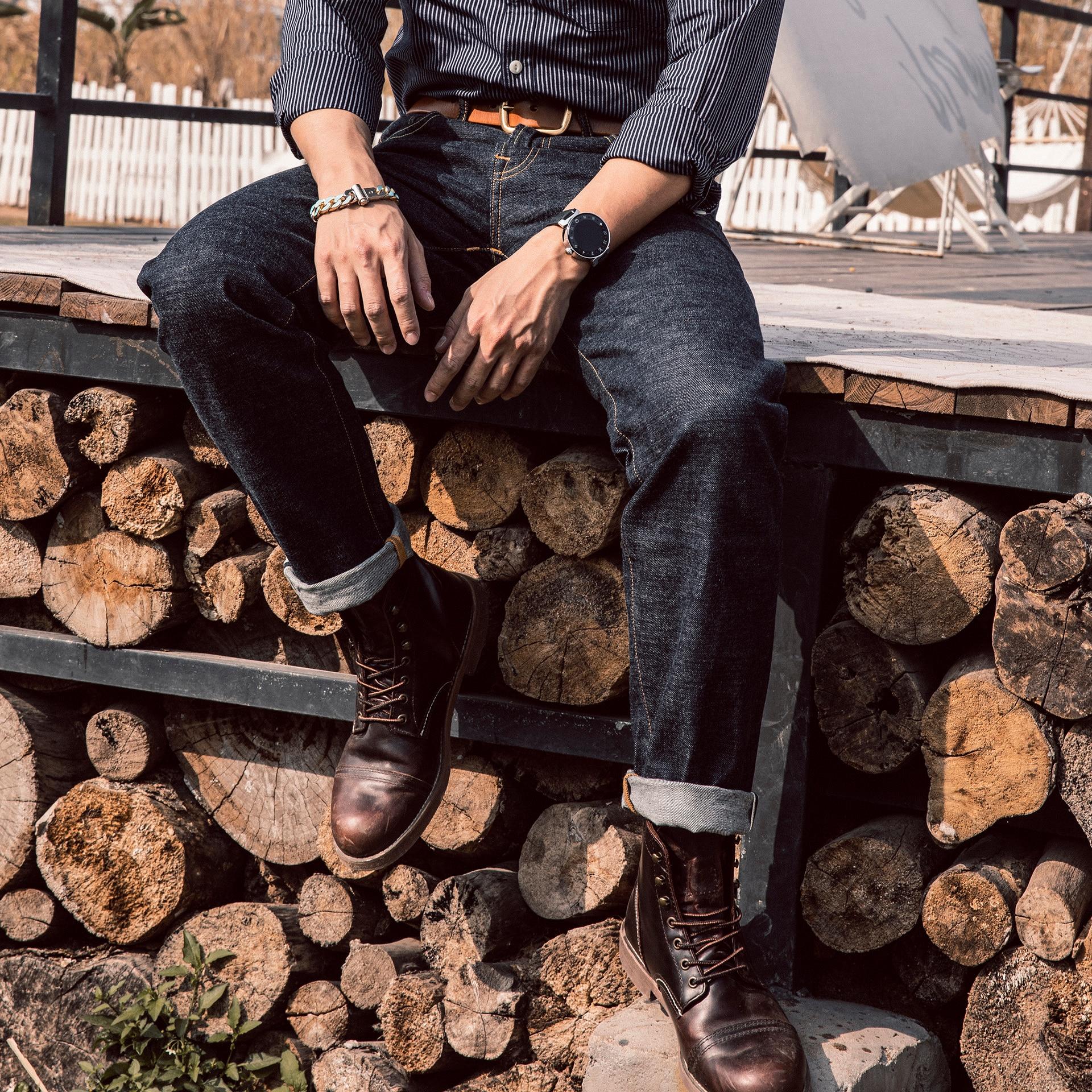 501CT-0002 14oz Super Quality Genuine Indigo Selvage Pants One Washed Sanforized Thick Raw Denim Jean