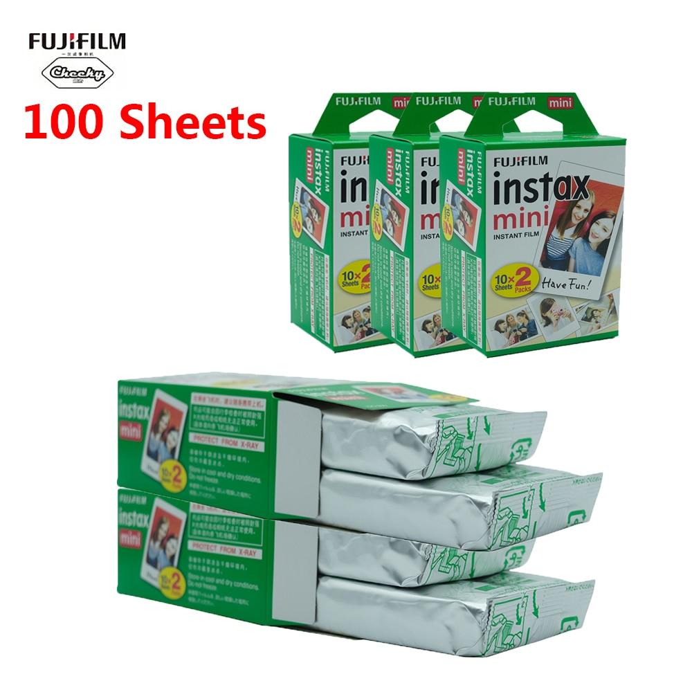 Fujifilm instax mini película 10 20 40 60 80 100 hojas Fuji 9 8 películas borde blanco películas instantánea mini 9 8 7s 25 50s 9 90