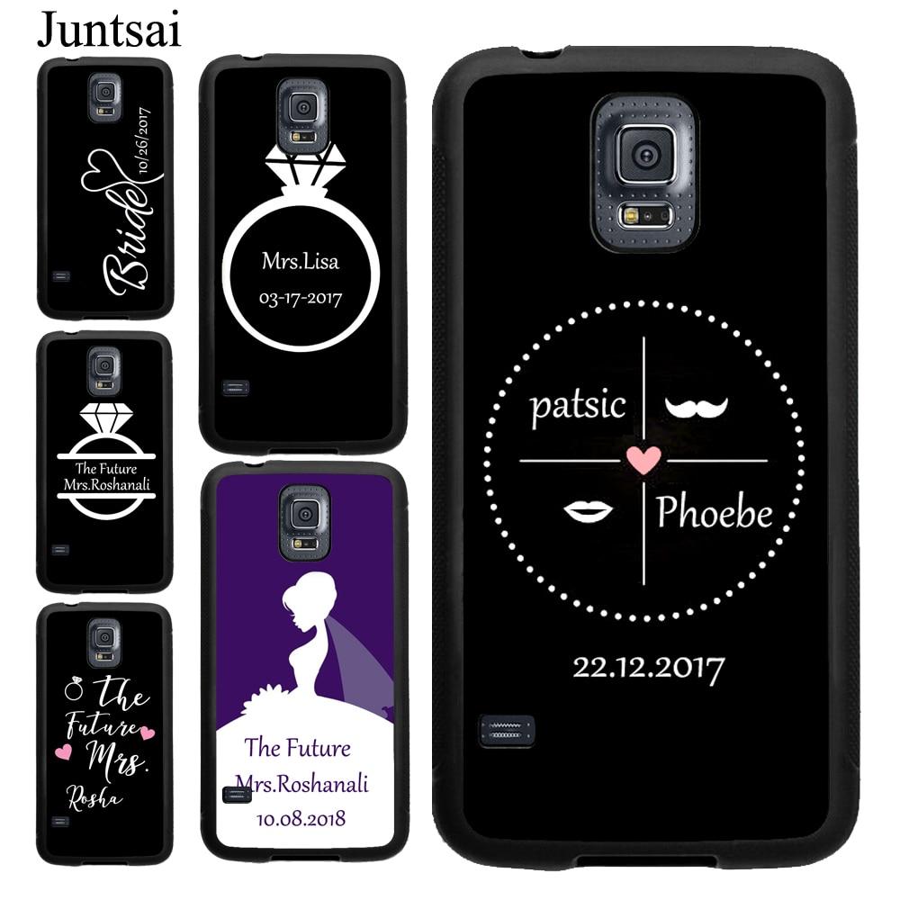 Personalizada Sra. Boda para novia caso para Samsung Galaxy A51 A71 S10 S20 Ultra S8 S9 más S10e A50 A70 A10 Nota 10 borde