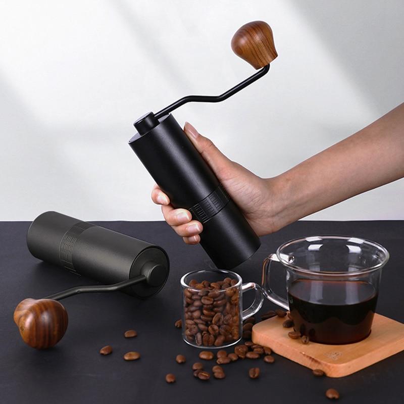 Портативная ручная кофемолка, кофемолка для эспрессо, кофемолка из нержавеющей стали, кофемолки ручной работы, лучший подарок