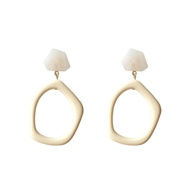 W85 العصرية بسيطة الاكريليك الأقراط الكبيرة الصلب إبرة انخفاض القرط مزاجه غير النظامية هندسية الأذن مجوهرات للنساء هدايا