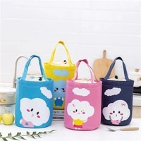straight insulation bag cloud pattern hand held beam mouth large capacity thickened aluminum foil fresh keeping lunch box bags