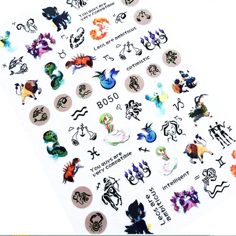 Новейшая модель; B050 дизайн 3d наклейки для ногтей наклейки на экспорт из Японии rhinestiones DIY украшения для дизайн ногтей
