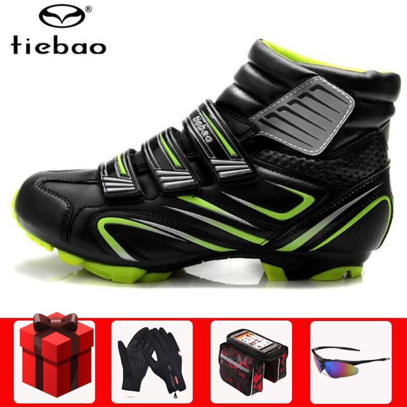 TIEBAO zapatos de ciclismo sapatilha ciclismo mtb hombre invierno auto-bloqueo SPD patillas MTB zapatos hombres fuera zapatos de bicicleta de carretera bota de bicicleta