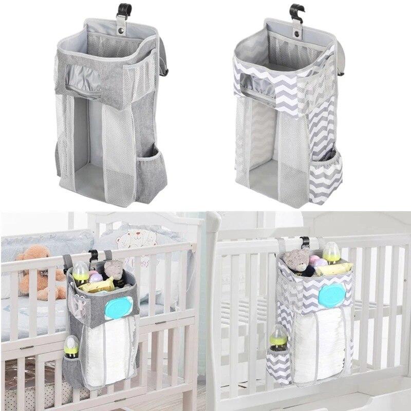 Baby Crib Hanging Storage Bag Diaper Nappy Organizer Cot Bed   Infant Essentials   Kids  Bedding Set