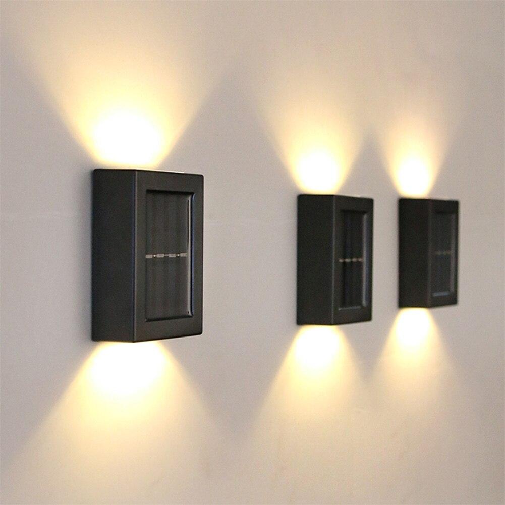2 pces luz de seguranca ao ar livre ntelligent led de energia solar a prova dwaterproof