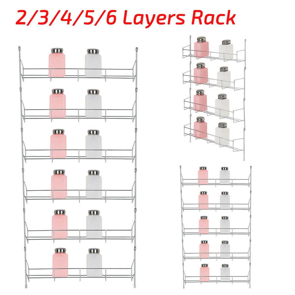 2/3/4/5/6 capas estante de especias de cocina organizador multifuncional soportes de almacenamiento estante despensa soporte colgante de pared estante de ahorro de espacio
