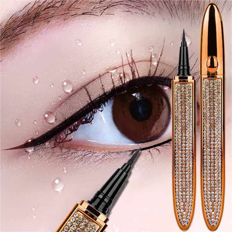Lápiz Delineador de ojos mágico, líquido autoadhesivo, sin pegamento, sin imán, resistente al agua, maquillaje cosmético