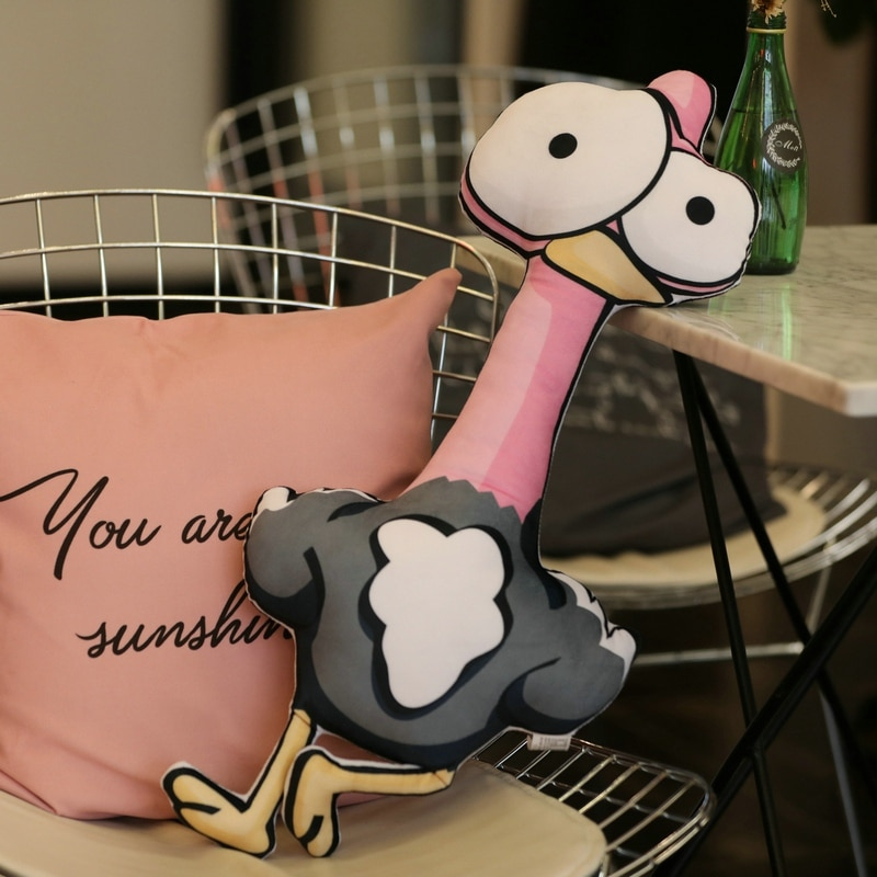 Almohada con dibujo de Flamenco de felpa de dibujos animados lindos de Animal de peluche suave Pilow y cojín elefante cocodrilo muñeca suave bebé niños juguetes decoración del hogar