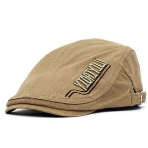 2021 four seasons Letter embroidery Newsboy Caps Cotton Flat Peaked Cap Men and Women Painter Beret Hats 27