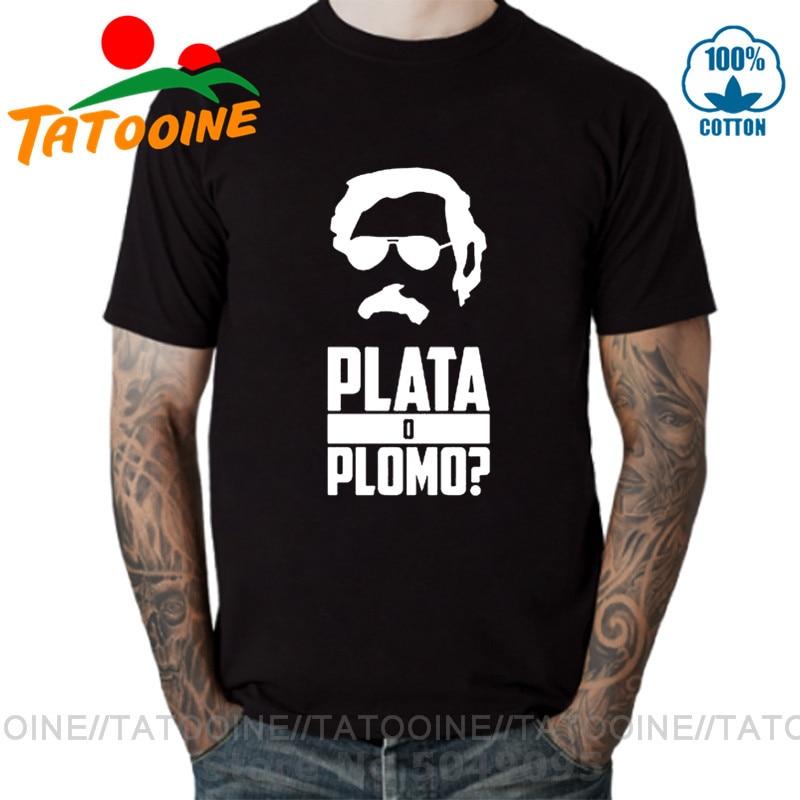 Camiseta Mujer Colombia Plata O muerto Plata O Plomo camisetas divertidas Pablo...