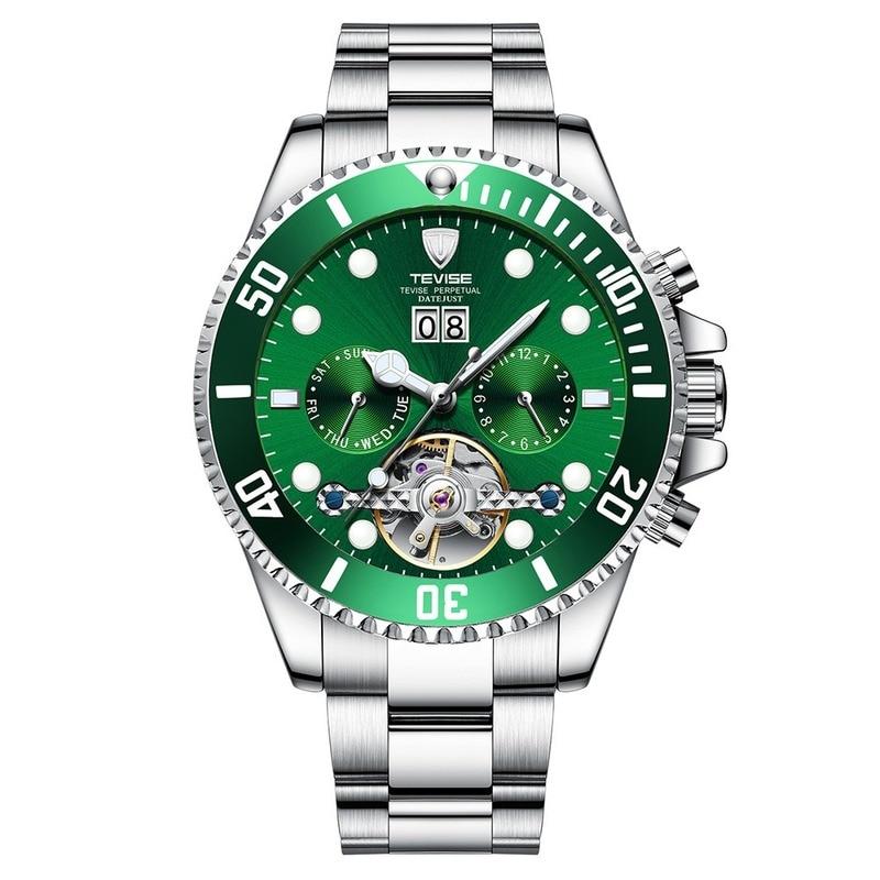 Men's mechanical watch watch water ghost calendar high-end business casual water steel band watch tide enlarge