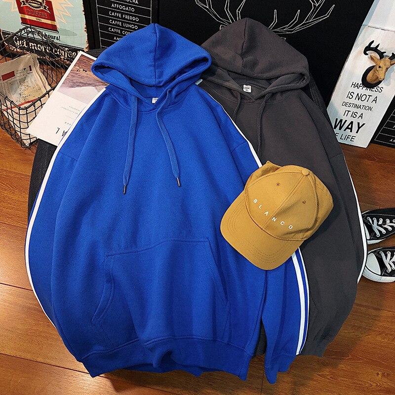 Толстовка мужская с капюшоном, повседневная однотонная модная Свободная кофта с кулиской, свитшот с капюшоном, модель 5XL, большие размеры