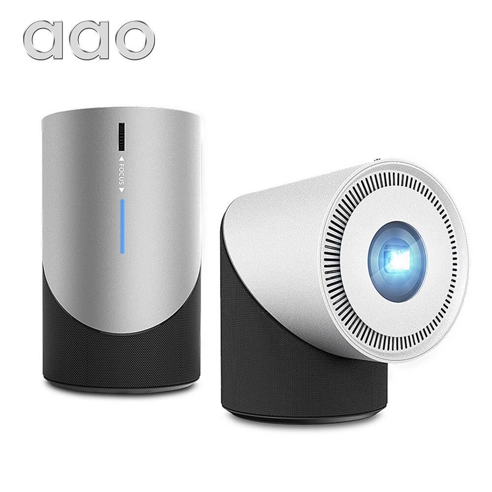 Портативный мини-проектор AAO DLP S211, 280Ansi 1080P, Android IOS, Wi-Fi, 3D-проектор Miracast Airplay