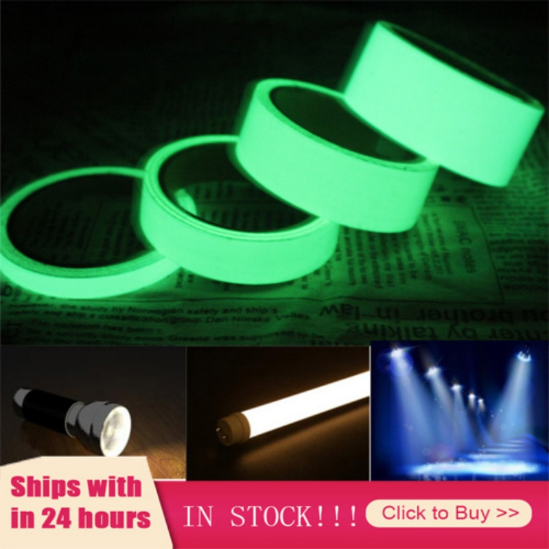 Luminous Fluorescent Night Self-adhesive Glow In The Dark Sticker Tape Safety Security Decoration Wa
