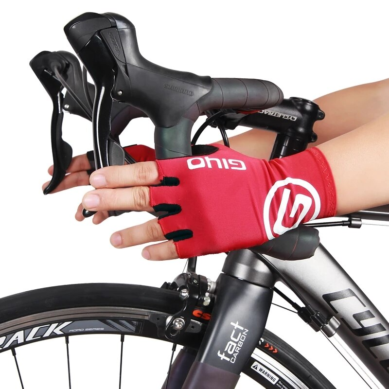 2021Giyo Cycling Breaking Wind Half Finger Gloves Anti-slip Bicycle Mittens Colorful Gloves Racing R