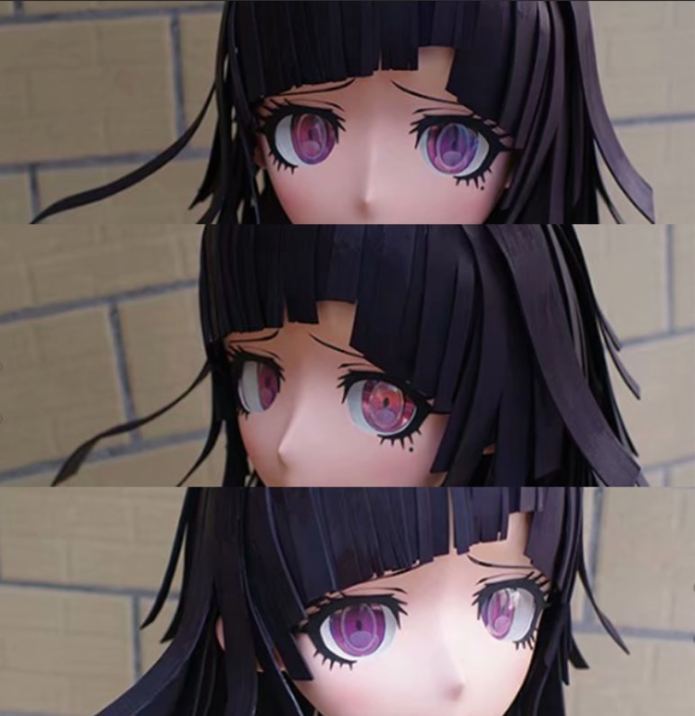 (RAIGEKI MAKS 68) Resin 3/4 Lolita Crossdresser DOLL BJD Cos Crossdress Head Kigurumi Anime Mikan Tsumiki Cosplay Masks