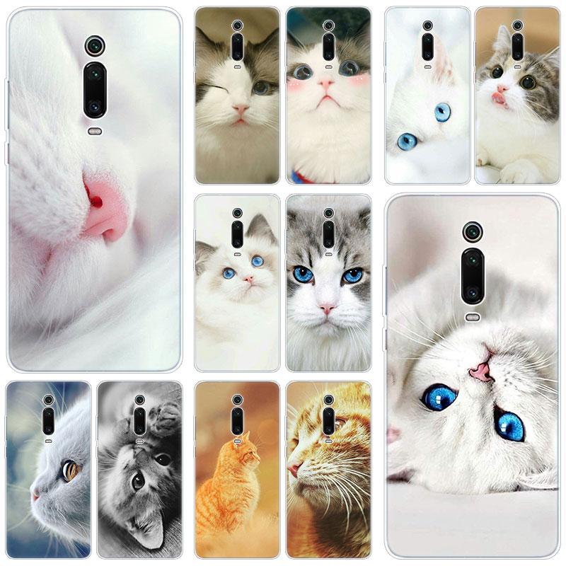 Caliente lindo animal gato funda de silicona para Xiaomi Mi nota 10 9T CC9 E 9 Pro A3 Lite jugar Redmi Note 8T 8 8A 6 Pro 6A 4X de la cubierta a la moda de la
