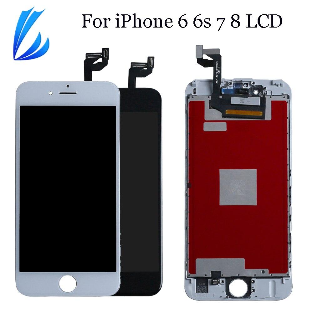 AAA ЖК-дисплей для iPhone 8 7 6s 6 сенсорный экран LCD Pantalla запасная часть для iPhone 6s 7g 8g 6g дисплей дигитайзер сборка