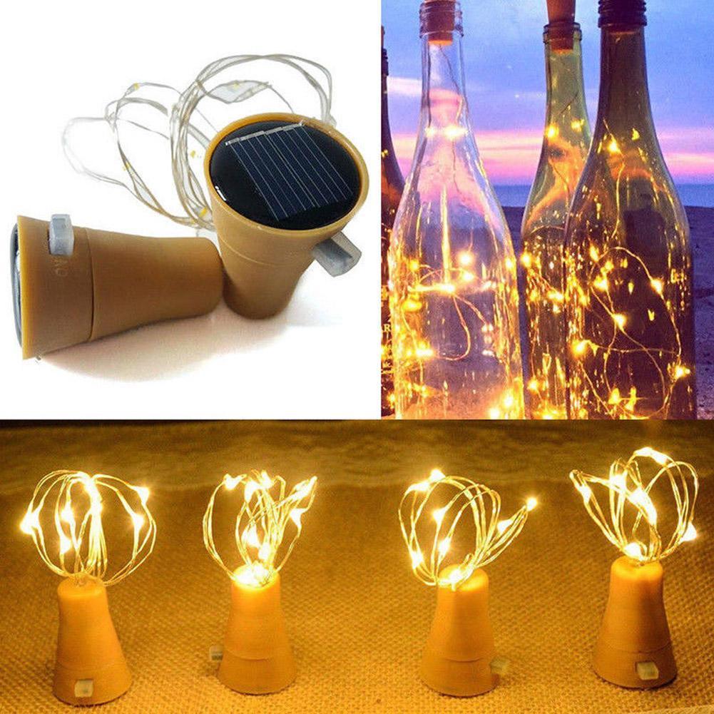 Солнечный инструмент для установки пробок в бутылки в форме светодиодный медный провод струны открытый свет гирлянды Огни фестиваль открытый Сказочный свет 1 м/2 м
