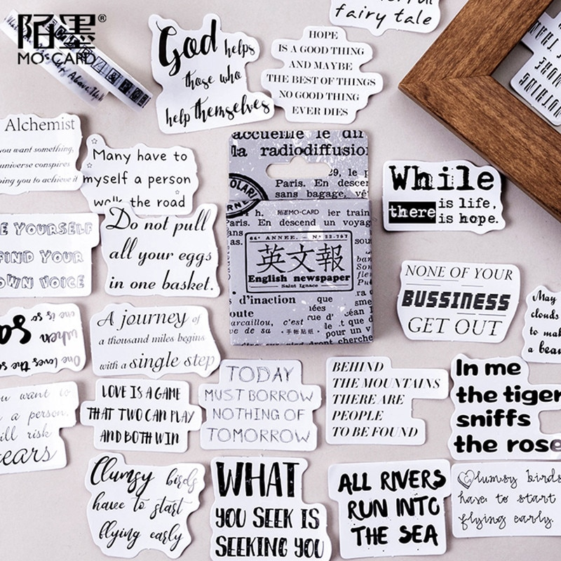 Фото - 46pcs Vintage English Newspaper Deco Stickers Bullet Journaling Accessories Stickers Aesthetic Scrapbook DIY Decorate Stationery vintage newspaper