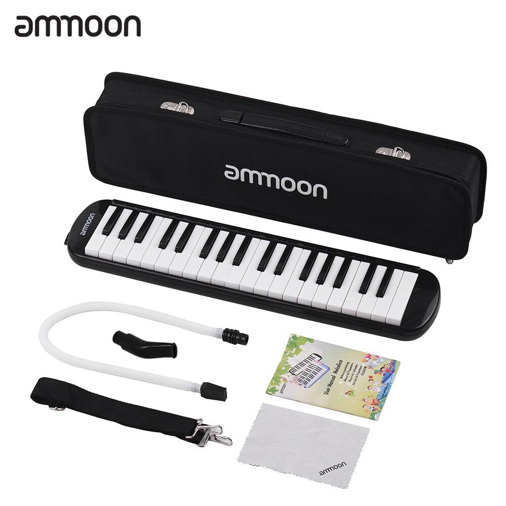 Ammoon 37 teclas melódica piano estilo de piano harmónica de teclado órgano de la boca con boquilla limpieza funda de tela para principiantes