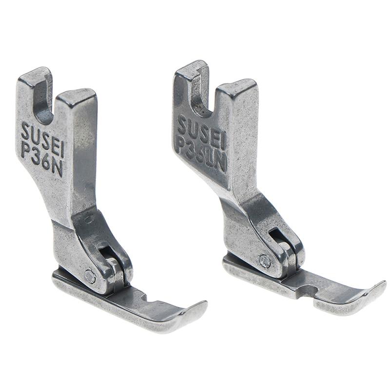 1PCS Industrial Sewing Machine Flatcar Unilateral Presser Foot Steel-Sided Zipper Foot P36LN / P36N Presser Foot