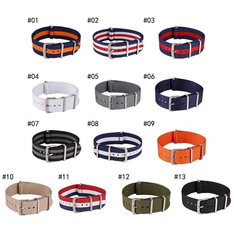 18 20 22 мм брендовые армейские спортивные натовские тканевые нейлоновые ленты с пряжкой ремень аксессуары для наручных часов для 007 James bond ремешок для часов W2