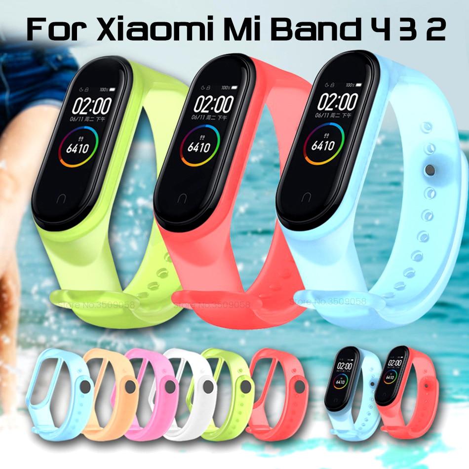 Умные браслеты силиконовый сменный ремешок для xiaomi mi band 4 3 2 ремешок miband4 miband3 miband2 ремешки mi band2 band3 band4