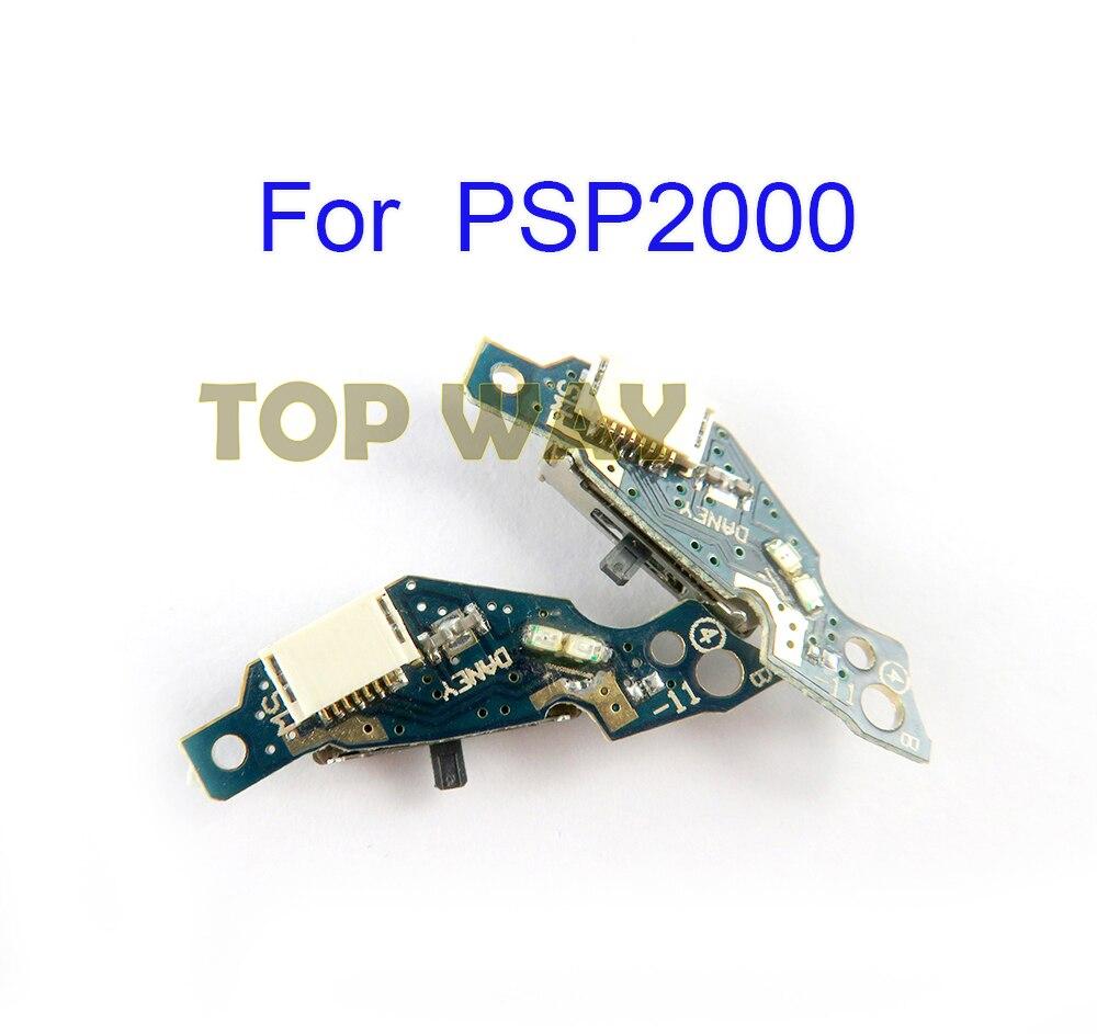 Carte de commutateur dalimentation sur le remplacement de carte de Circuit imprimé pour PSP2000 PSP 2000 Console de jeu 50 pièces/lot