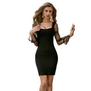 Strap Sleeveless Black Elastic Knitted Sexy Women Ladies Bodycon New Fashion Celebrity Summer Bandage Dress